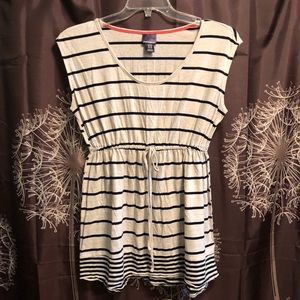 OH BABY Maternity Pregnancy Striped Blouse Top M